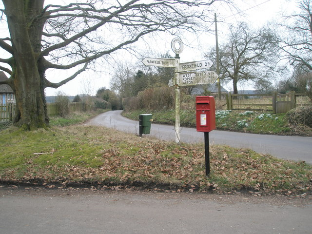 Postbox in Privett village centre