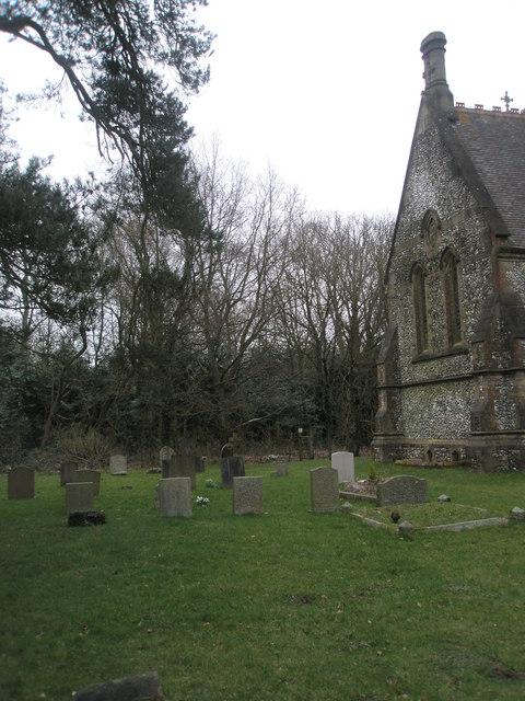 Gravestones in the churchyard of  Holy Trinity, Privett