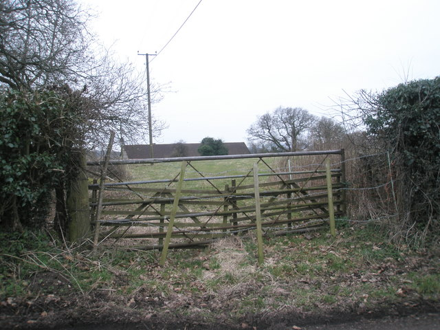 View from Church Lane over to Church Farm
