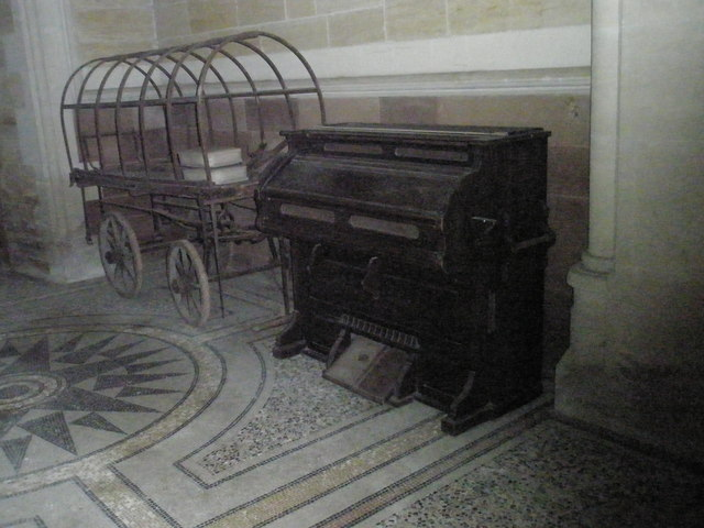 Funeral cart within Holy Trinity, Privett