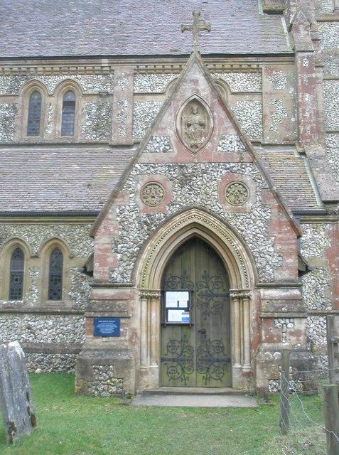 The church porch at Holy Trinity, Privett