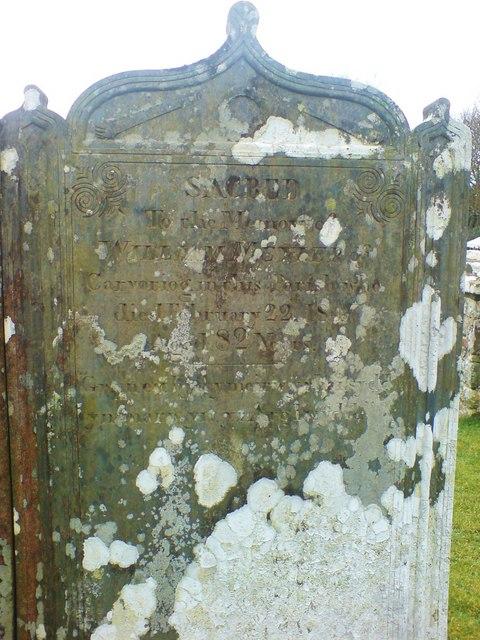 Grave of William Meyler of Carvoriog, Whitchurch