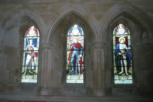 Three linked windows within Holy Trinity, Privett