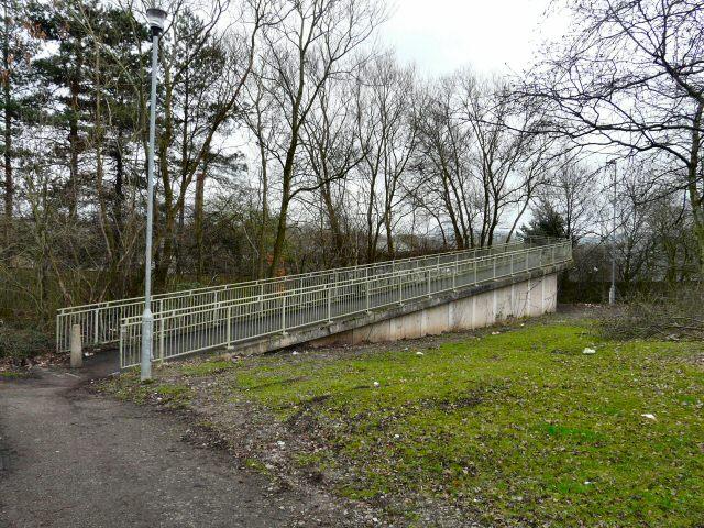 Ramp to Spiral Footbridge