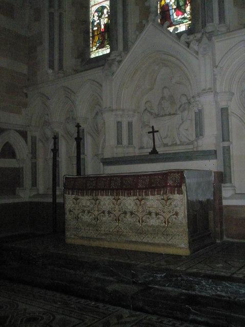 The altar at Holy Trinity, Privett