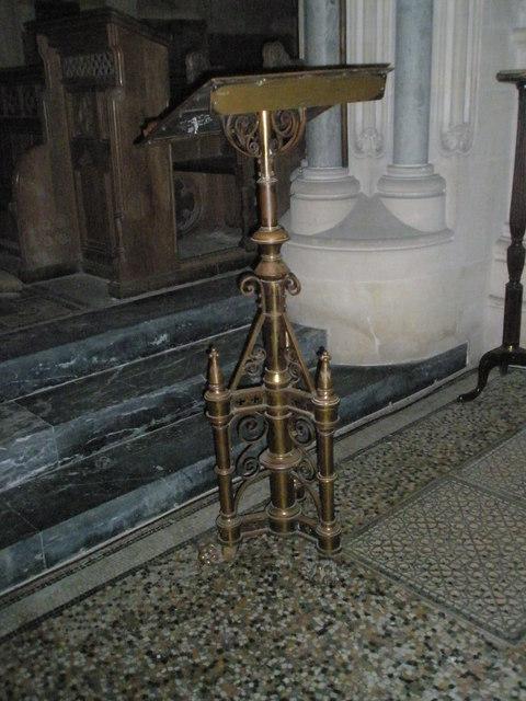 The lectern at Holy Trinity, Privett