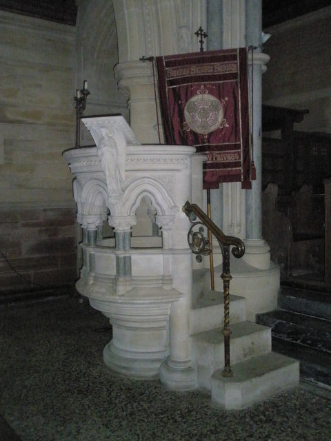 The pulpit at Holy Trinity, Privett
