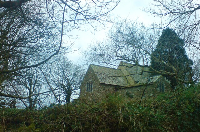 Llanhywel Church from the lane