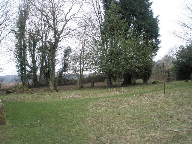 Rear of Privett Churchyard
