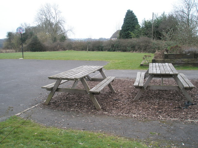 Picnic area behind Holy Trinity, Privett