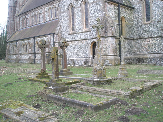 Crosses in the churchyard at Holy Trinity, Privett