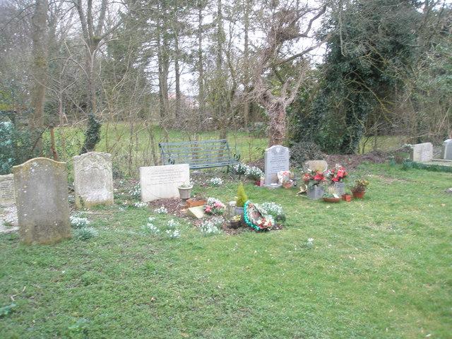 Seat in Ropley Churchyard
