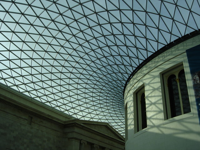 Roof of Great court, British Museum