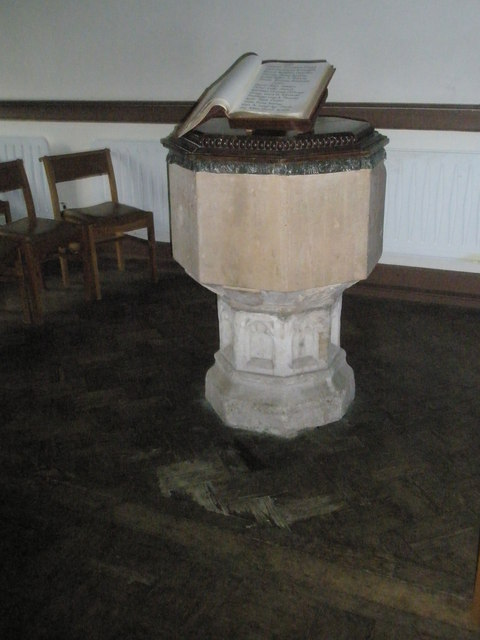 The font at St Peter's, Ropley