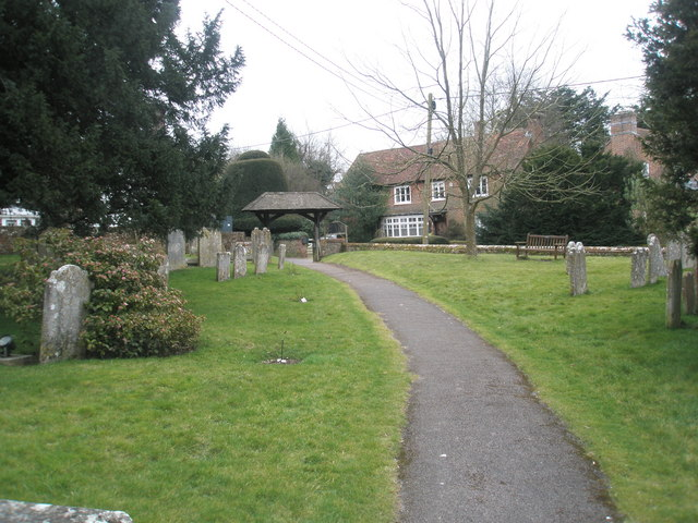 Looking towards the Lych Gate at St Peter's, Ropley