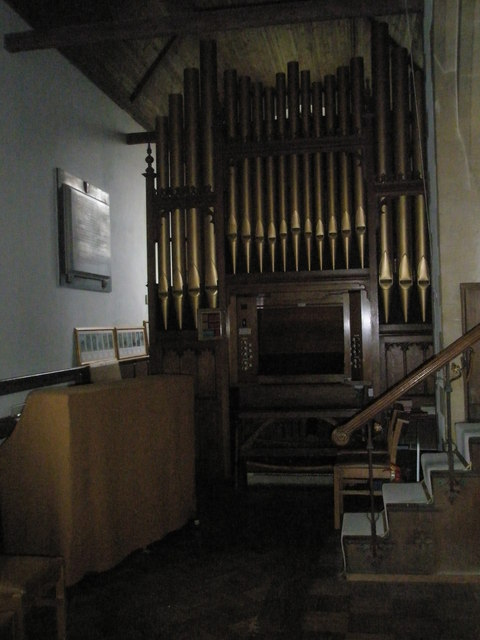 The organ at St Peter's, Ropley