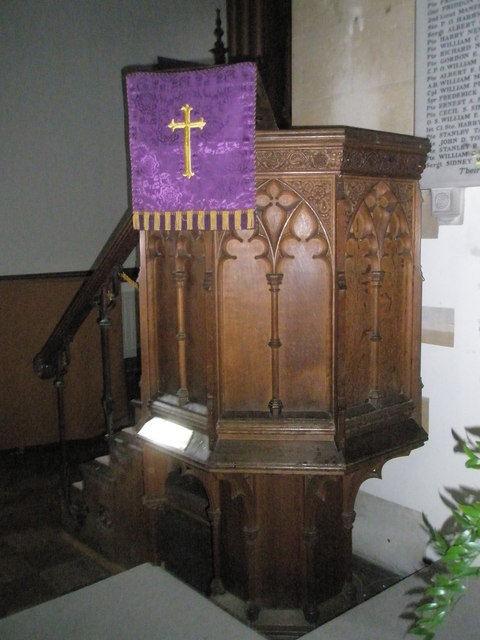 The pulpit at St Peter's, Ropley