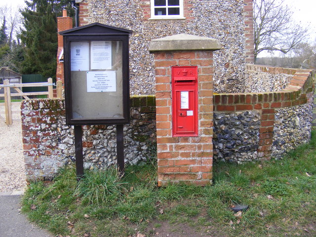 Marlesford Village Notice Board & CO Church Street Victorian Postbox