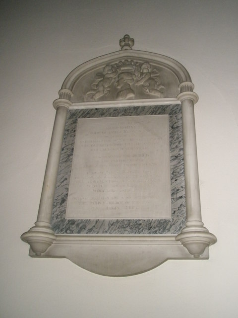 Ancient memorial within St Peter's, Ropley