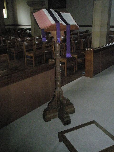 The lectern at St Peter's, Ropley