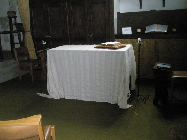 Devotional area within St Peter's, Ropley