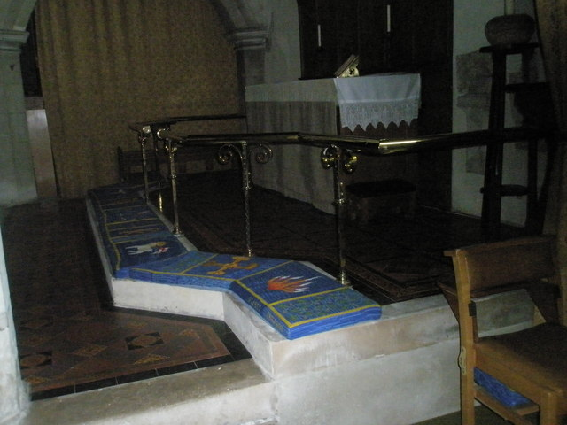 The altar rail at St Peter's, Ropley