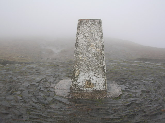 Trig point on Pendle 1831'