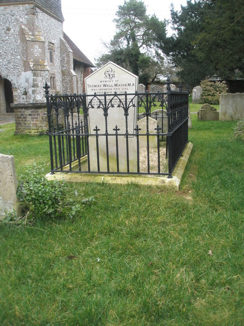 Fenced tomb within Ropley Churchyard