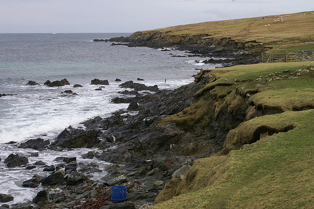Coastline at Quida, south of Sand Wick