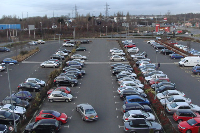 Car park from the Village Hotel, Walsall