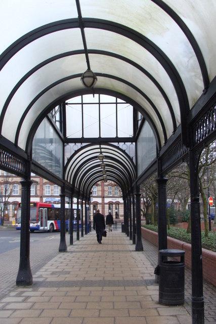 Arcade near the bus station