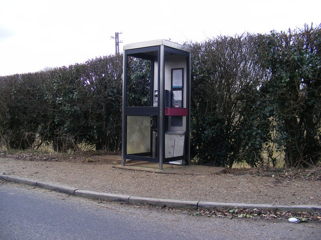 Vandalised Telephone Box, Bell Lane, Marlesford
