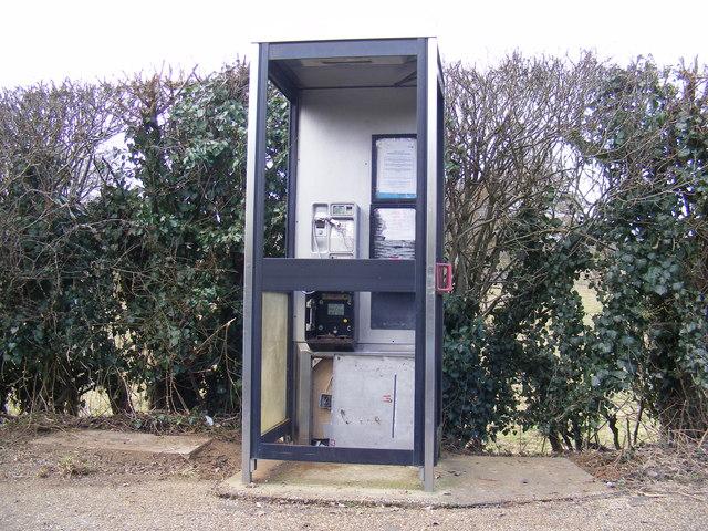 Vandalised Telephone Box, Bell Lane, Marlesford