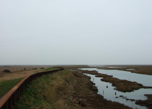 Seawall at Hamford Water