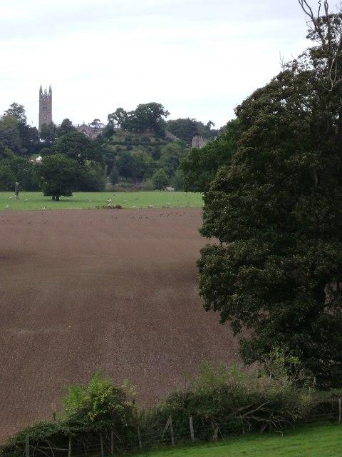 Warwick Castle Park: a view of Warwick