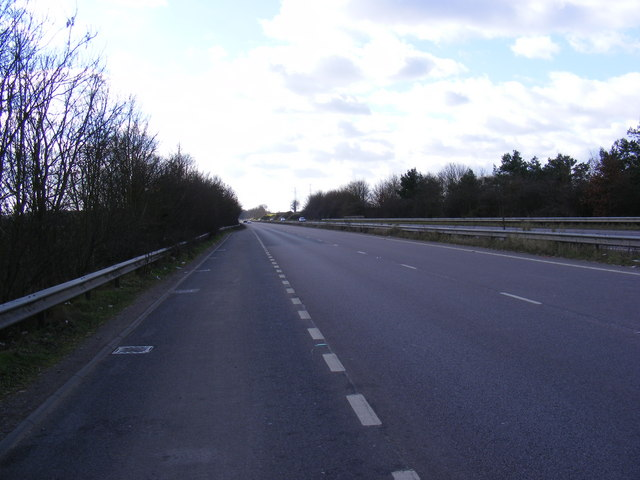 The A12, Wickham Market