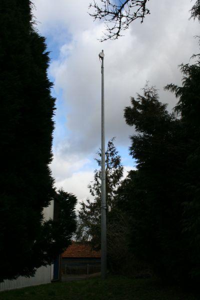 Siren on the pole
