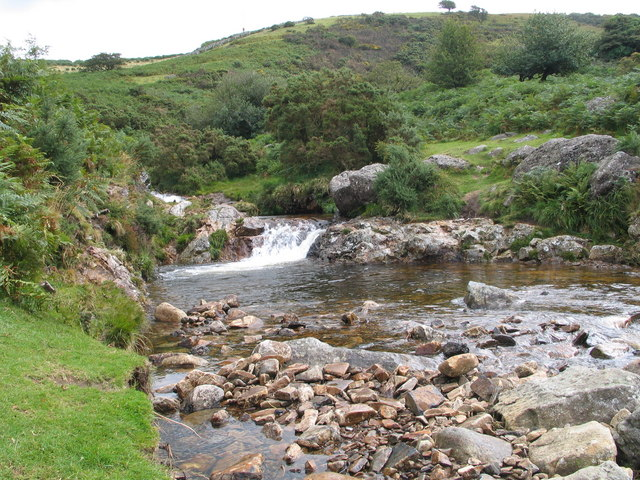 Red-a-ven Brook near the West Okement River