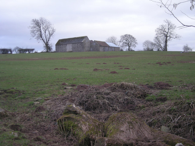 Stone barn on the horizon