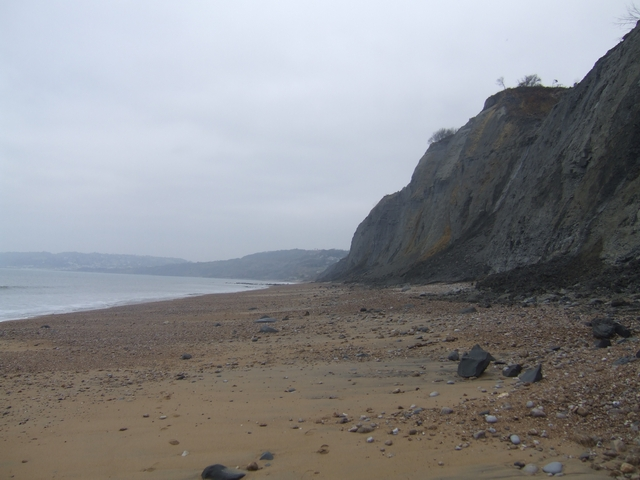 Charmouth Beach looking west