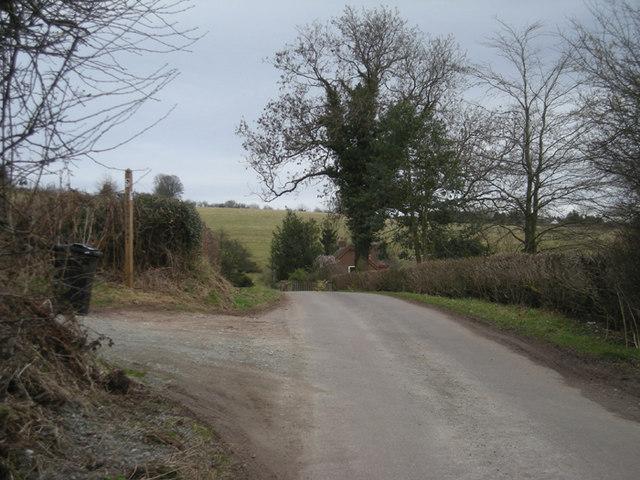 Lane & bridleway at Blackford