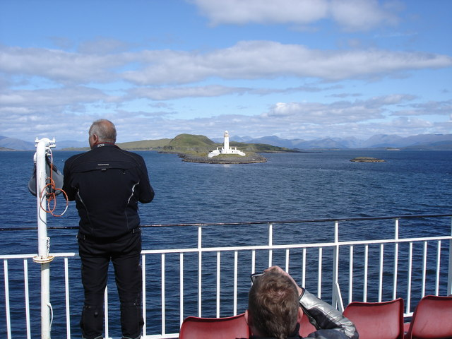 Lighthouse on the SW tip of Lismore - from the Mull ferry