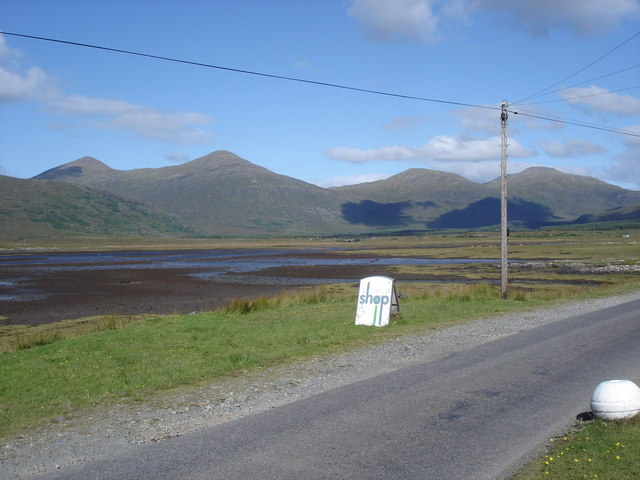 Head of Loch Scridain - from the Pennyghael Stores and Post Office