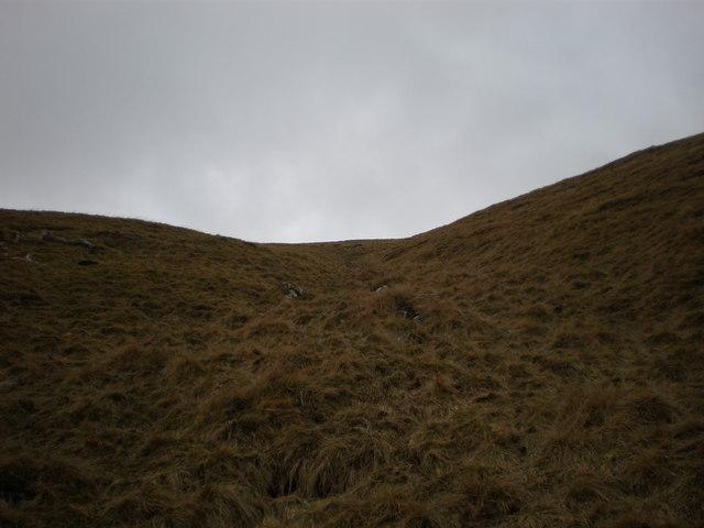 Steep Moorland above Creag Fhionnlaidh
