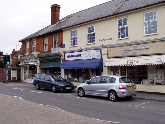 Hook: Parade of shops on north side of A30