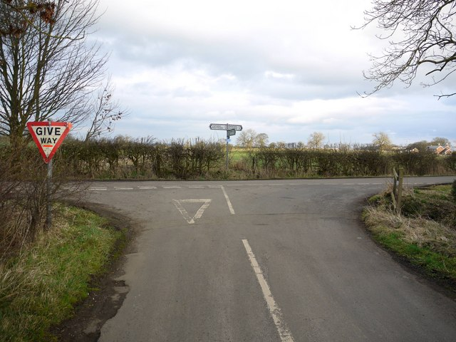 Road Junction on Reivers Cycle Route