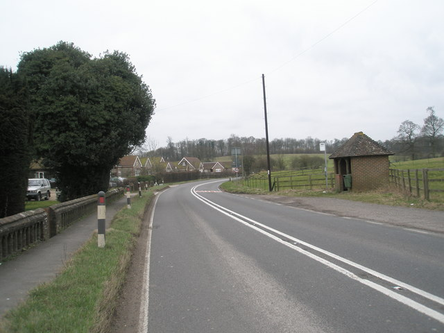 Bus shelter on the A32 at East Tisted