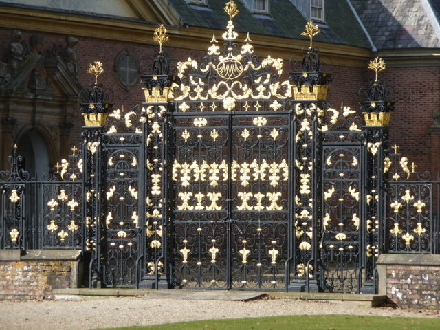 Newport: splendid gates at Tredegar House