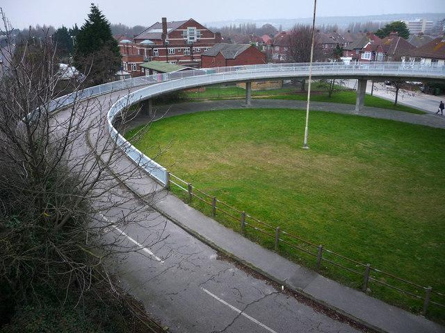 Two wheeled access to the Highbury Hilsea bridge