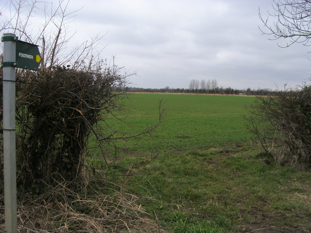 Footpath across field